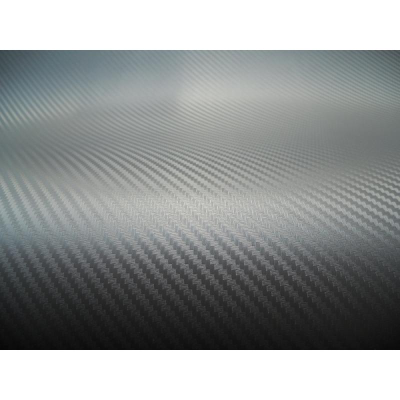 GD-01 Пленка Carbon Fiber (Silver) размер рулона 1,52*30м (карбон серебристый)