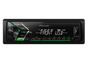 USB-Автомагнитола Pioneer MVH-S100UBG, c поддержкой Android-смартфонов, FLAC , 4X50 Вт, зеленая подсветка кнопок