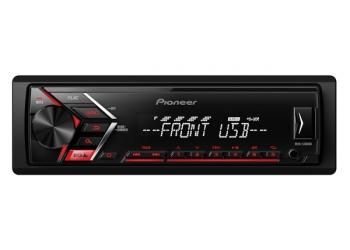 USB-Автомагнитола Pioneer MVH-S100UB, с поддержкой Android-смартфонов , FLAC , 4X50 Вт, красная подсветка кнопок