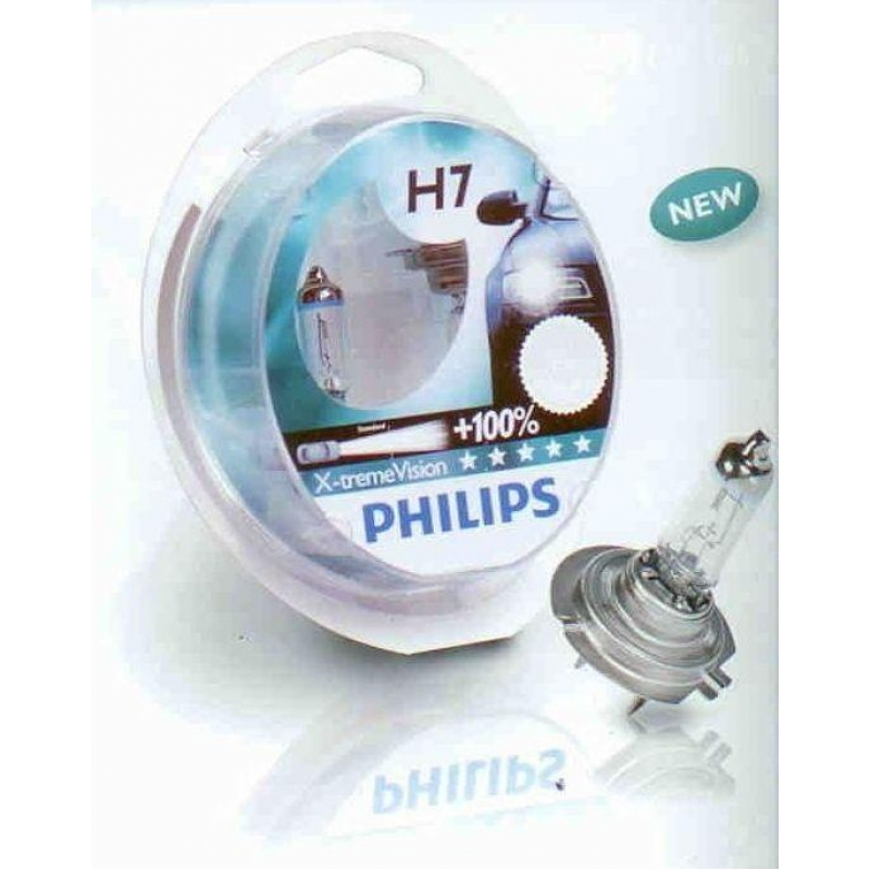 Галогеновая лампа Philips H1 X-treme Vision 2 шт