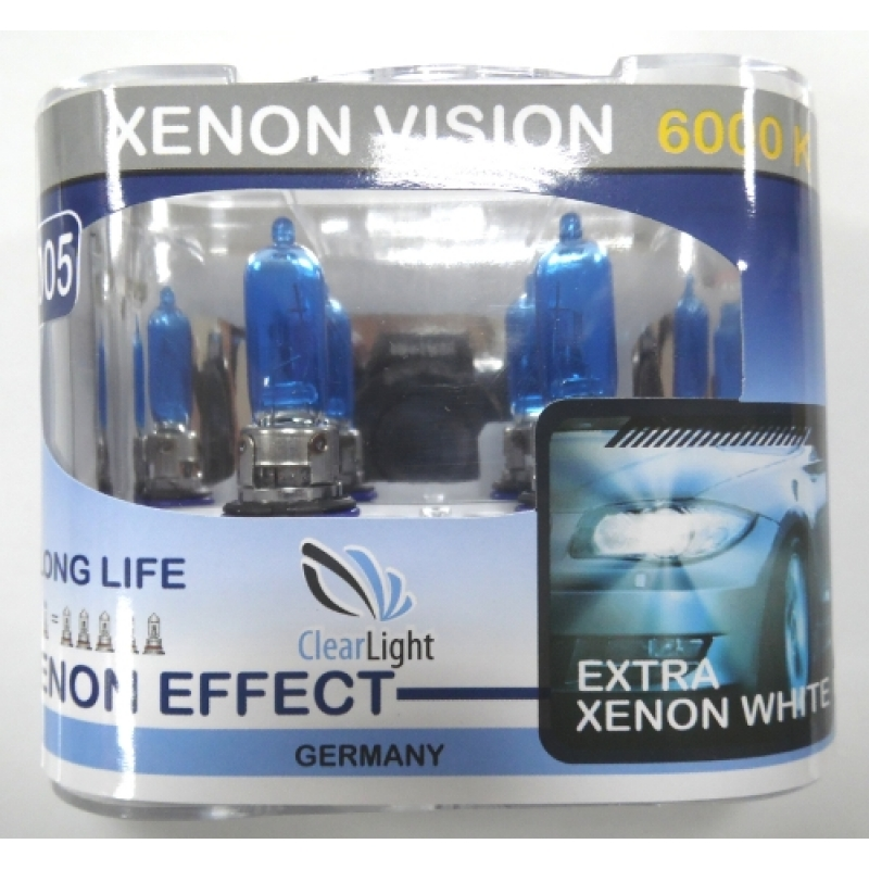 Галогеновая лампа Clearlight HB3 Xenon Vision 2шт