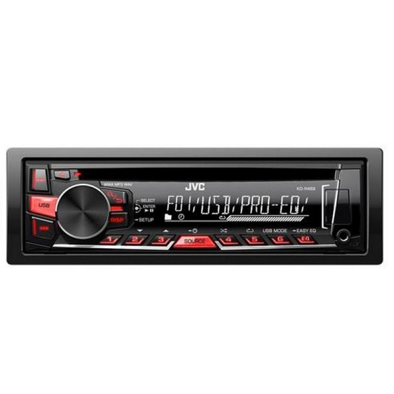 Автомагнитола JVC KD-R469EY, 1DIN, CD/MP3-проигрыватель, 4X50Вт, USB, AUX-вход
