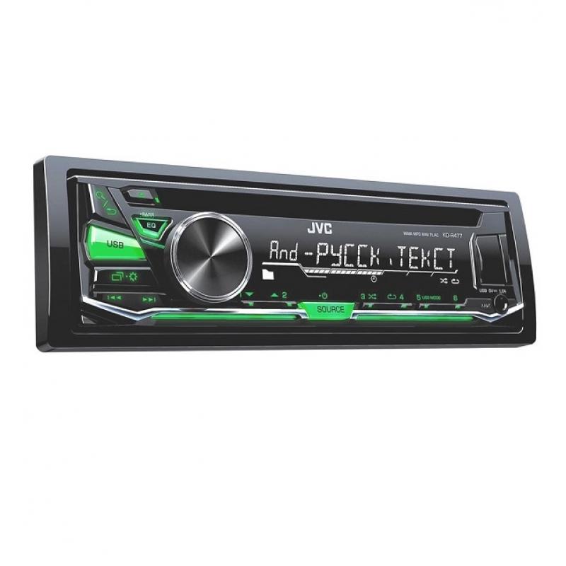 Автомагнитола JVC KD-R477, 1DIN, CD/MP3-проигрыватель, 4X50Вт, USB, AUX-вход