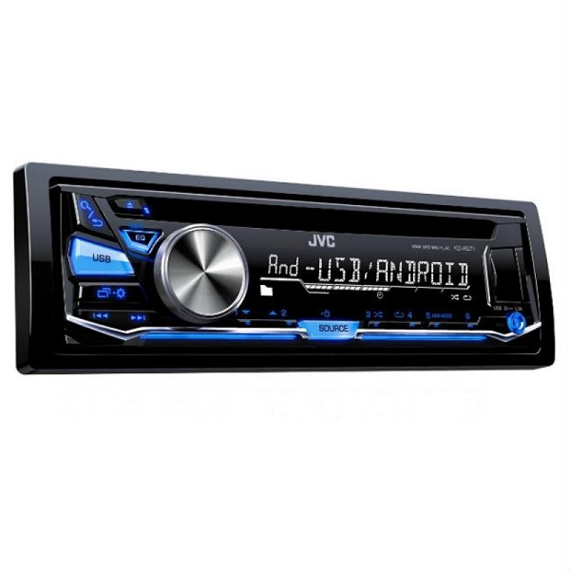 Автомагнитола JVC KD-R571, 1DIN, CD/MP3-проигрыватель, 4X50Вт, USB, AUX-вход