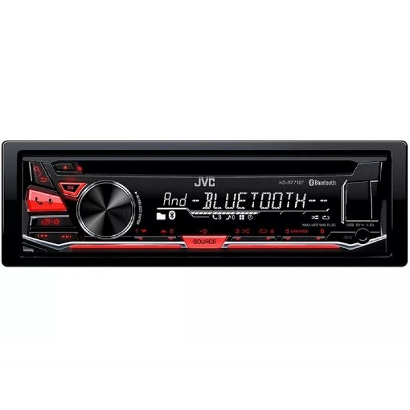 Автомагнитола JVC KD-R771BT, 1DIN, CD/MP3-проигрыватель, 4X50Вт, USB, AUX-вход, Bluetooth