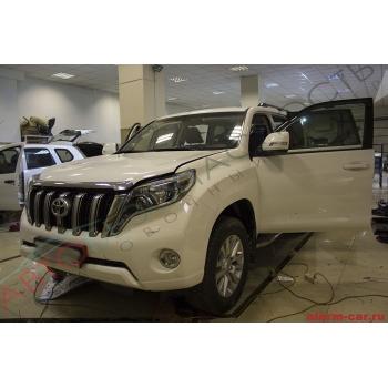 Toyota Land Cruiser Prado - Авторская защита от угона, Бронирование окон, Шумоизоляция салона, Pandora DLX 3945, Замки капота