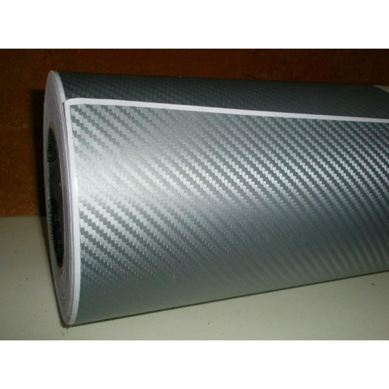 3D Carbon Fiver Vinyl (Silver) размер рулона 1,52*30м (карбон серебристый)