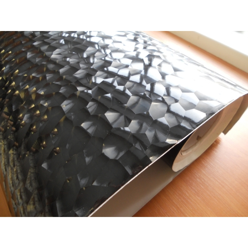RS-01 Water Cube (Black) размер рулона 1,52*30м (призма 3D)