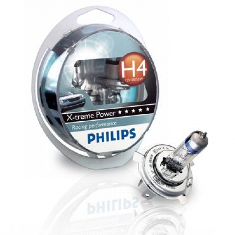 Галогеновая лампа Philips H1 X-treme Power 1 шт