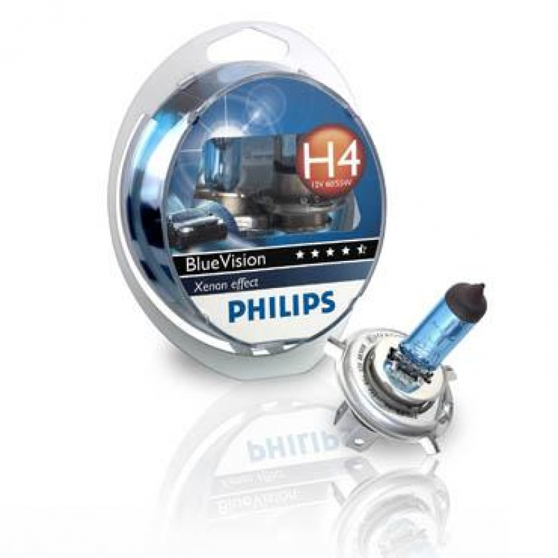 Галогеновая лампа Philips H1 Blue Vision (H1 2 шт+W5W 2 шт)