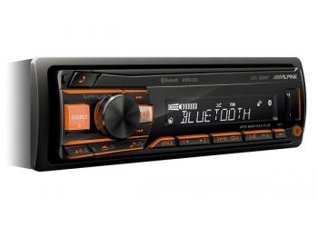 Автомагнитола ALPINE UTE-200BT, 1DIN, 4X50Вт, USB, AUX-вход, Bluetooth