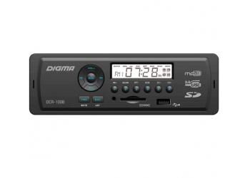 Автомагнитола Digma DCR-100B, 1DIN, 4X45Вт, USB/SD, AUX-вход