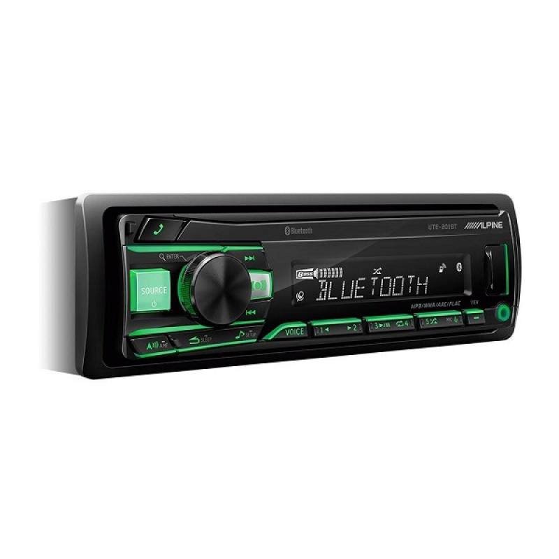 Автомагнитола Alpine UTE-201BT, 1DIN, 4X50Вт, USB, AUX-вход, Bluetooth