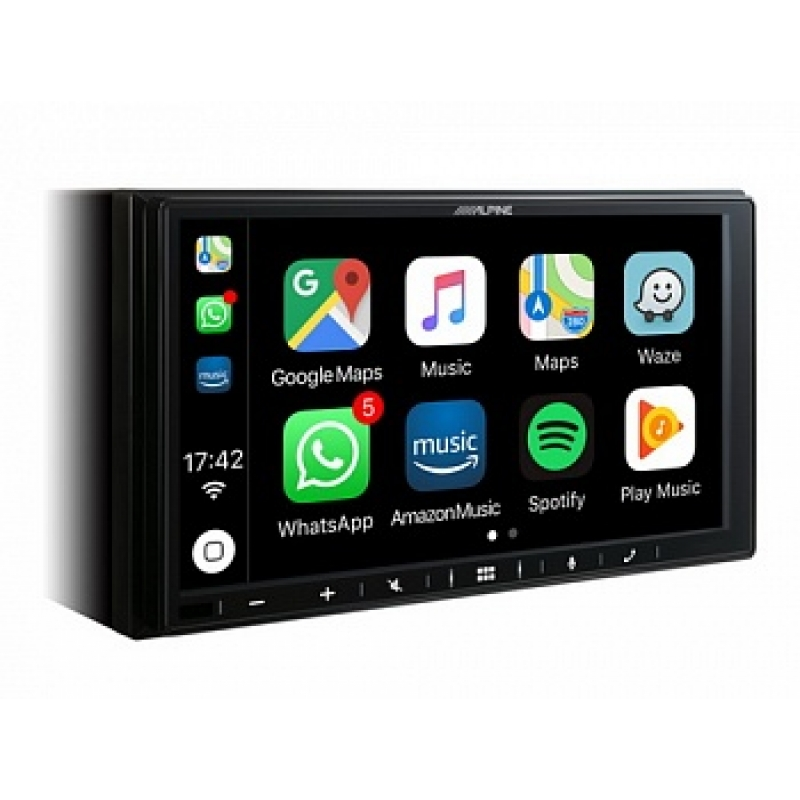 Автомагнитола ALPINE iLX-W650BT, Мультимедиа, 2DIN, 4X50Вт, с Apple CarPlay и Android Auto, Bluetooth