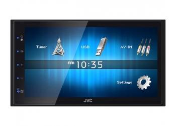 Автомагнитола JVC KW-М14, Мультимедиа, 2DIN, 4X50Вт, USB, Сенсорный экран