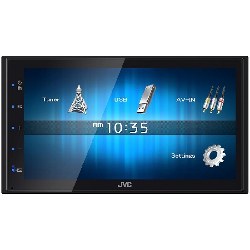 Автомагнитола JVC KW-M14, Мультимедиа, 2DIN, 4X50Вт, USB, Сенсорный экран