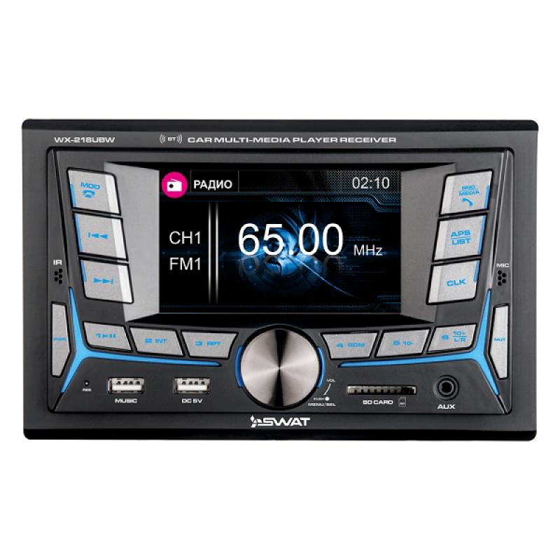 Автомагнитола SWAT WX-218UBW, CD/MP3-проигрыватель, 4X50Вт, USB/SD, AUX-вход, Bluetooth