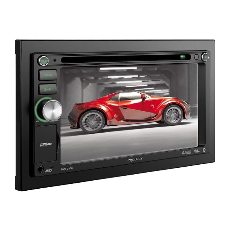 Автомагнитола PROLOGY DVS-2300 Мультимедиа, 2DIN, CD/DVD-проигрыватель, 4X50Вт, USB/SD, Bluetooth