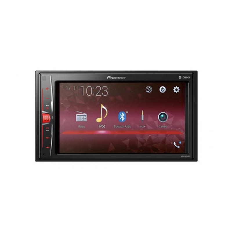 Автомагнитола PIONEER MVH-A210BT, Мультимедиа, 2DIN, 4X50Вт, USB, AUX-вход, Сенсорный экран, Bluetooth