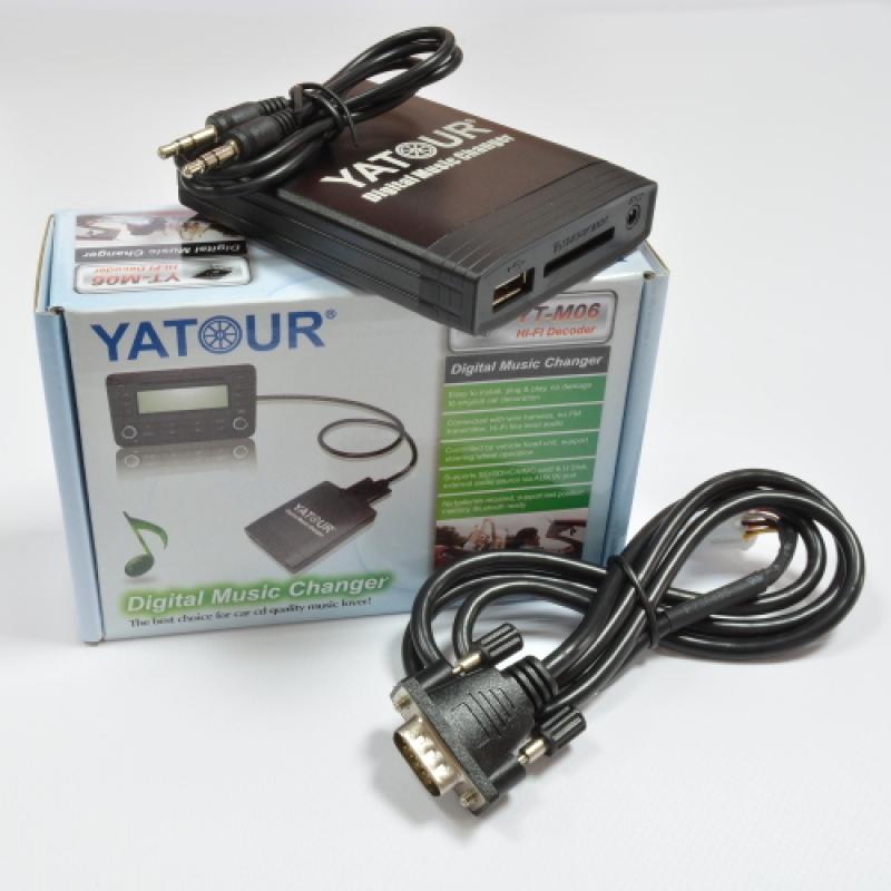 USB, MP3, CD Адаптер YATOUR YT-M07 NISSAN (Nissan, Infinity) с поддержкой Iphone/Ipod