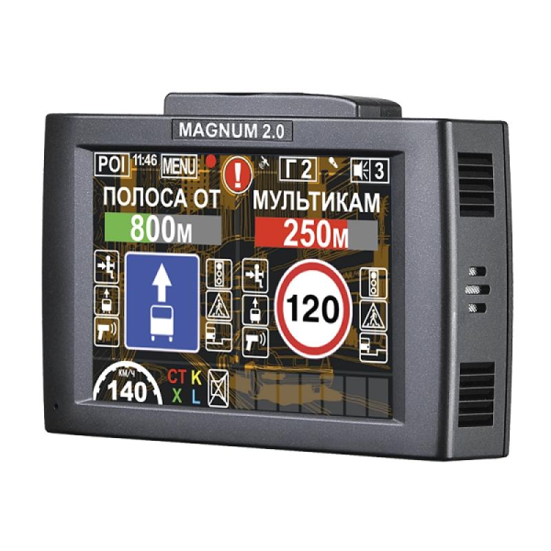 Видеорегистратор с антирадаром INTEGO MAGNUM 2.0, FullHD, GPS, G-сенсор